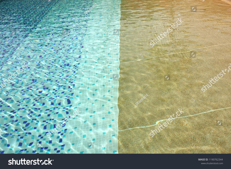 https www shutterstock com image photo texture swimming pool floor through waterartificial 1190762344