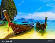Thailand Beach Island Asia Resort Landscape Stock