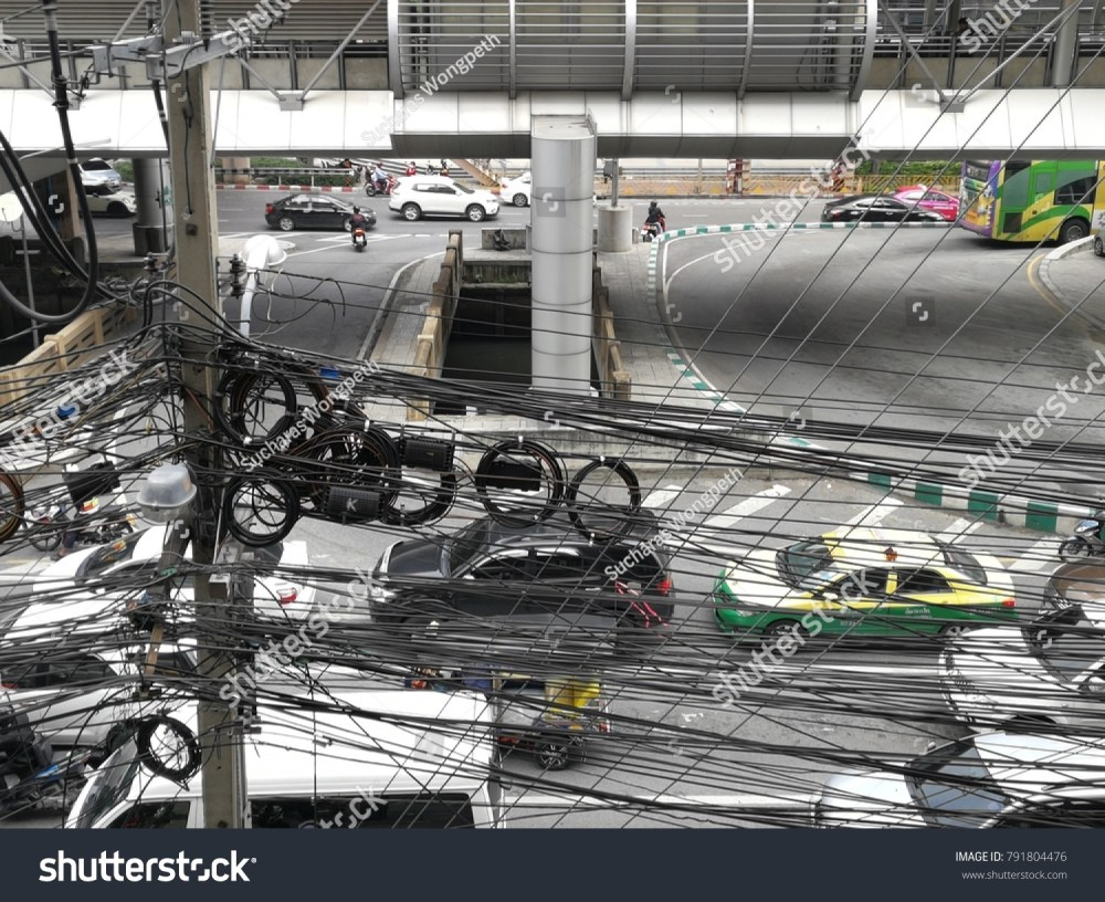 medium resolution of thailand january 11 a photo of crazy wires are everywhere in bangkok on the