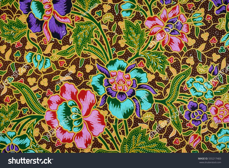 Beautiful Art Malaysian Indonesian Batik Pattern Stock