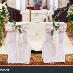 Wedding Bride And Groom Chairs Chair For Dorm Room Grooms Inside Church Stock Photo 119554606