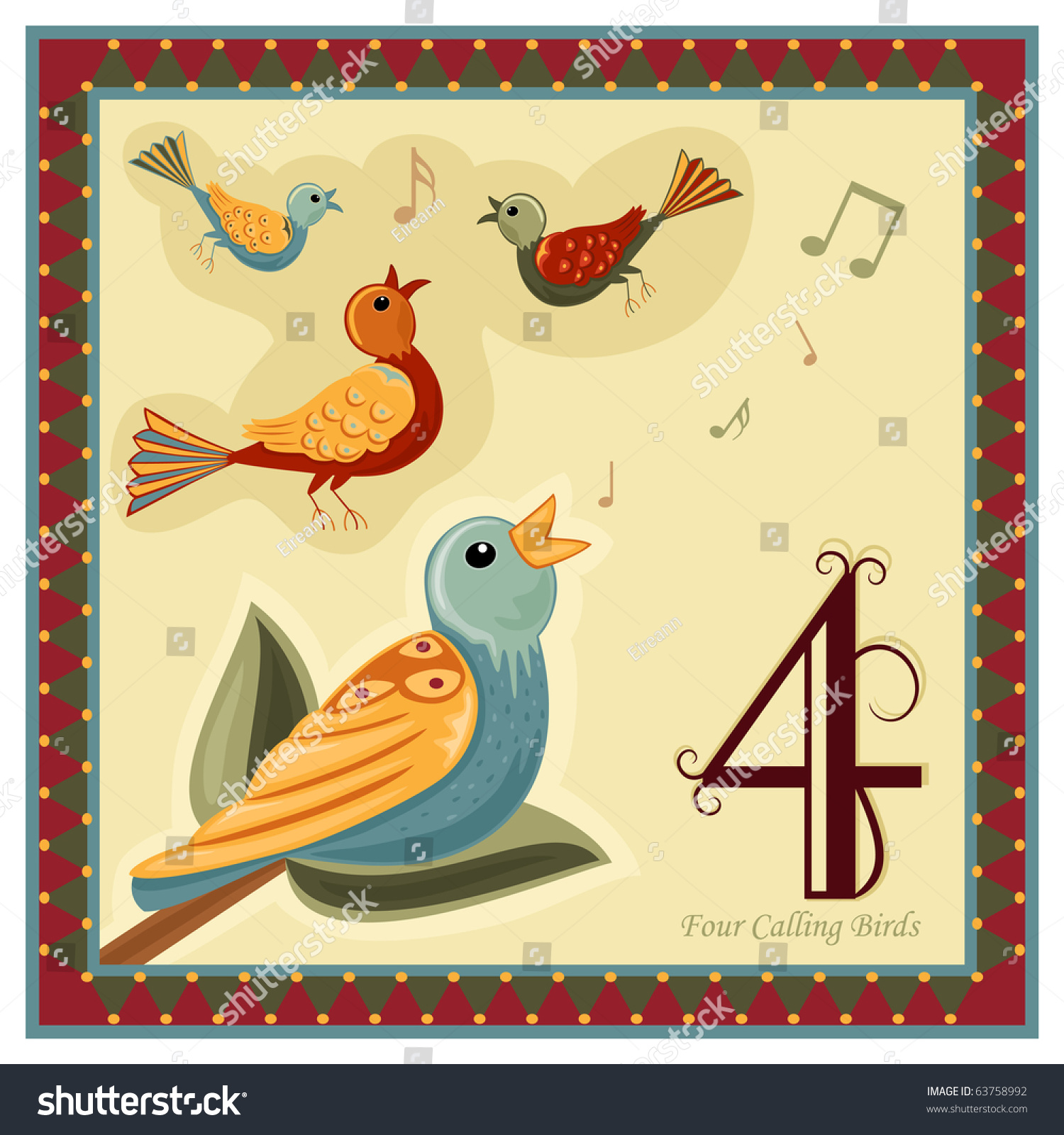 hight resolution of the 12 days of christmas 4 th day four calling birds
