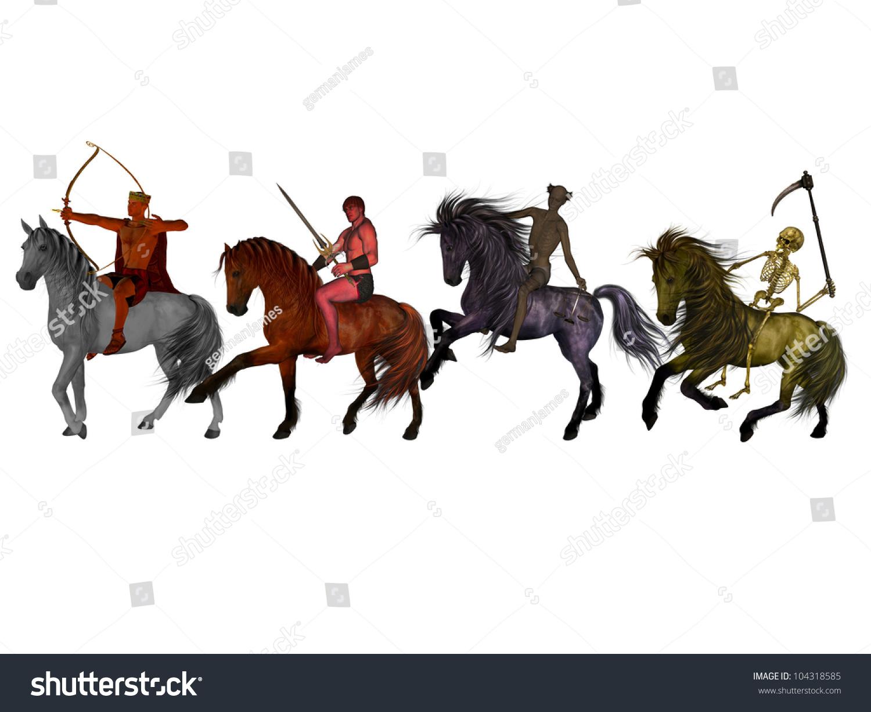 The Four Horsemen Of The Apocalypse Stock Photo