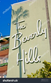 Historic Beverly Hills Hotel Opened In 1912 Stock