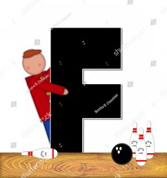 the letter f in the alphabet set children bowling lane is decorated [ 1200 x 1600 Pixel ]