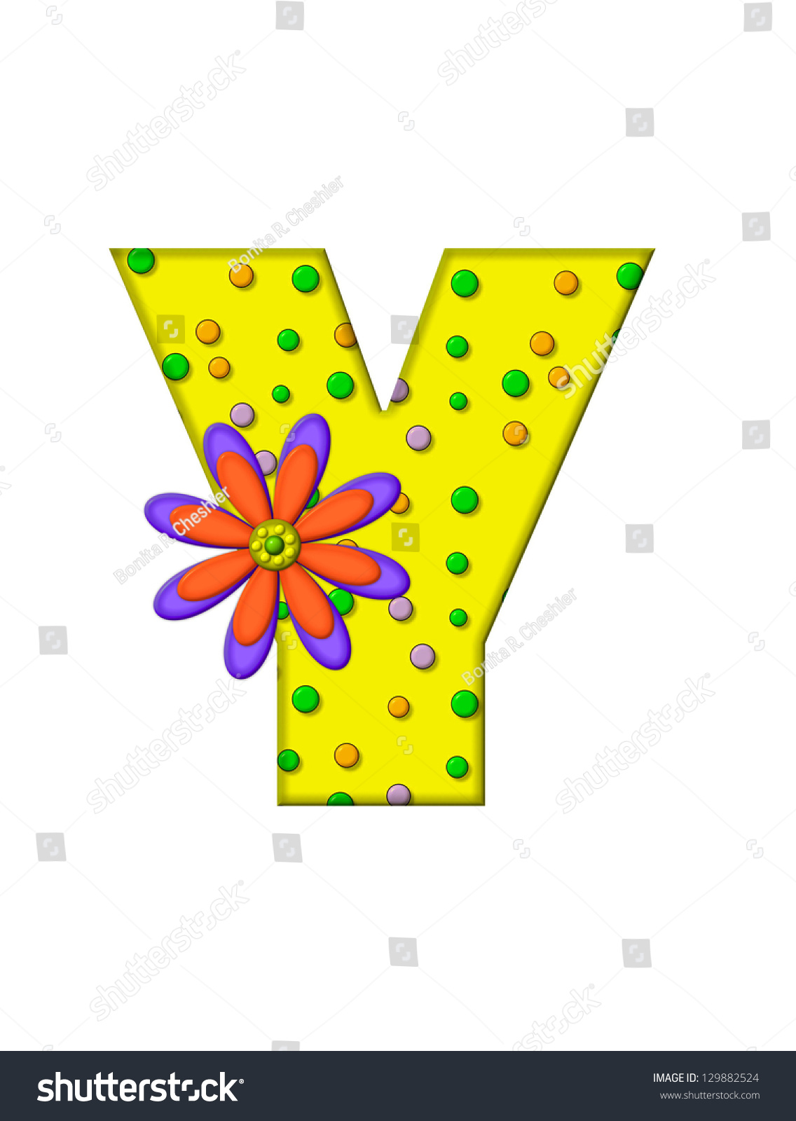 The Letter Y In The Alphabet Set Zany Dots Is Yellow