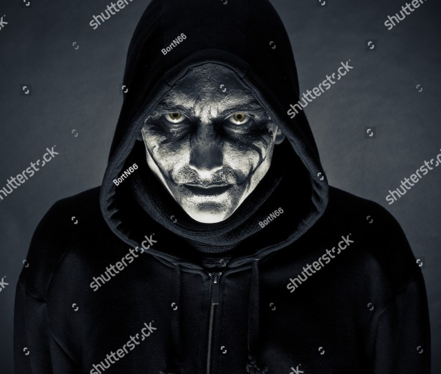 The Man In An Image Of The Monster On A Black Background