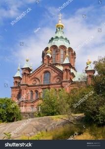 Orthodox Uspenski Cathedral In Helsinki Finland Stock