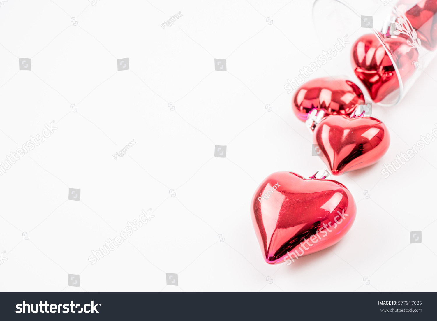 Red Heart Shapes Love Concept Valentines Stock Photo