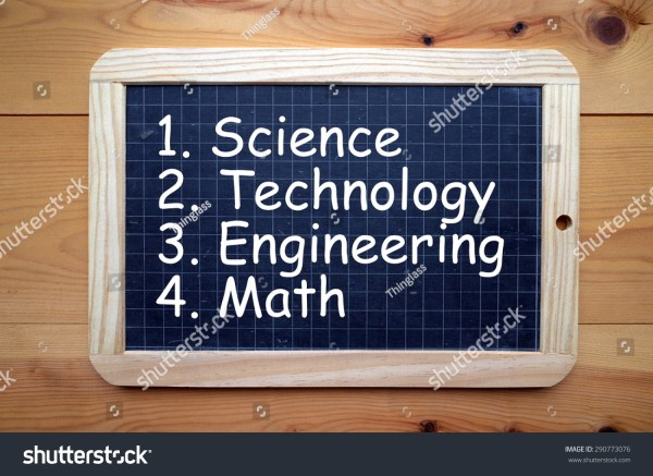 Words Science Technology Engineering Math White Stock