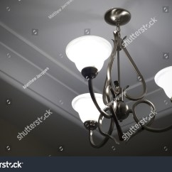 Light Fixture Deutsch 2000 Harley Sportster Wiring Diagram Three Lamp Metal Ceiling Stock Photo 7170022