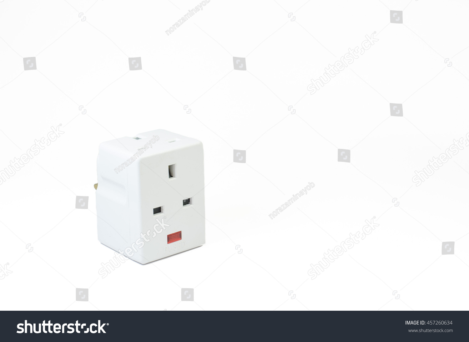 3 way electric wiring diagram explanation three socket isolated on stock photo