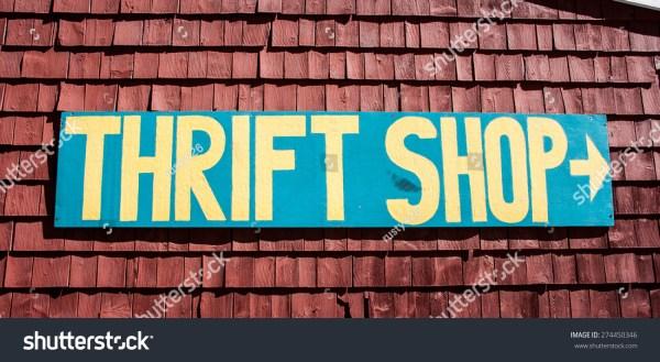 Thrift Sign Stock 274450346 Shutterstock