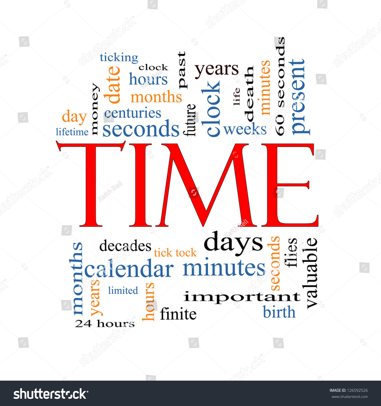 Time Word Cloud Concept Great Terms Stock Illustration
