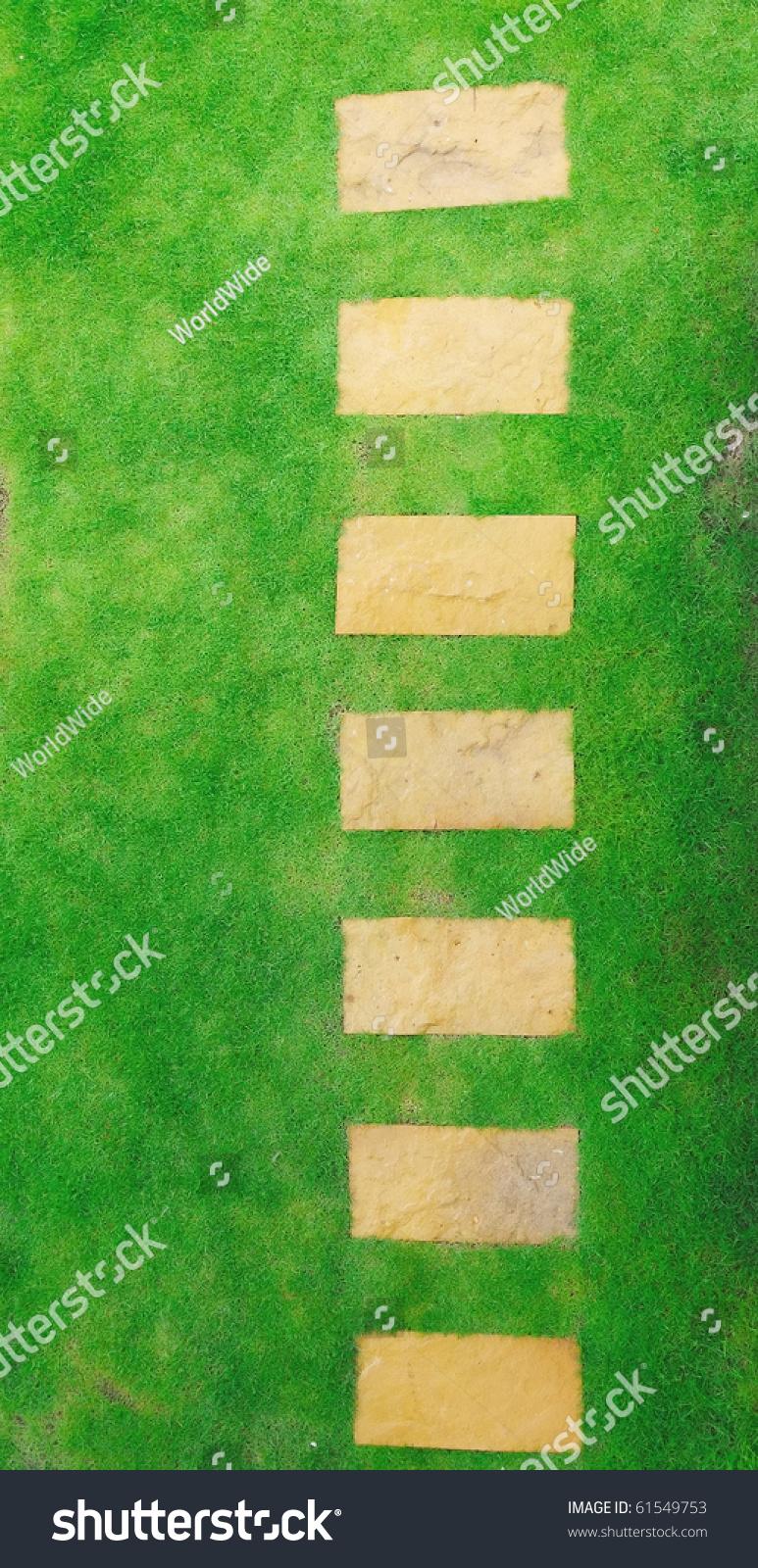 Top View Garden Pathway Stock Photo 61549753  Shutterstock