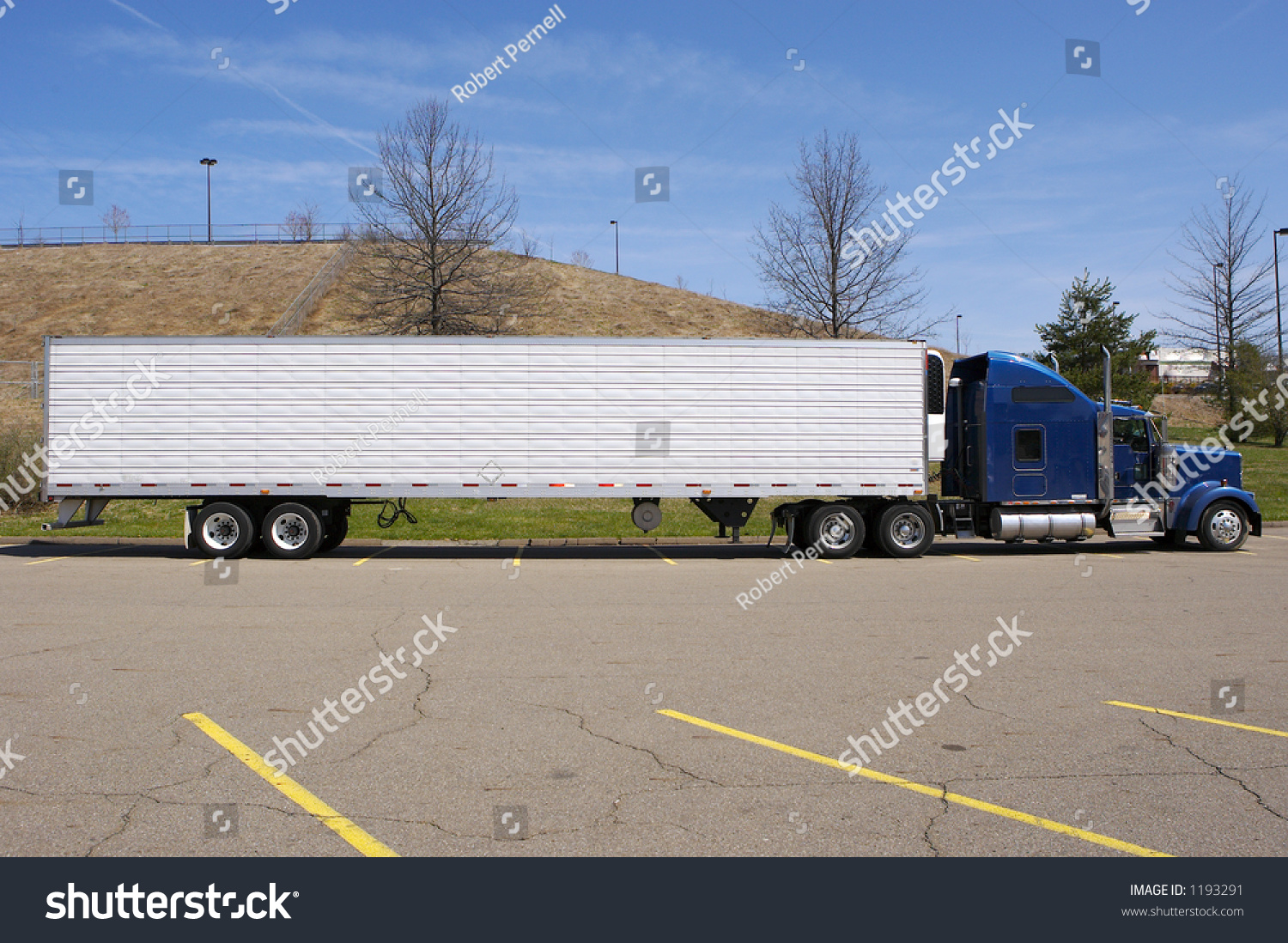 semi trailer deutsch pioneer deh 2450ub wiring diagram tractor truck side view stock photo 1193291