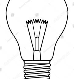 traditional inefficient incandescent light bulb in a black and white design [ 1001 x 1600 Pixel ]
