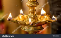 Traditional South Indian Brass Oil Lamp Stock Photo ...