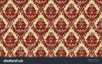 """Traditional Victorian Style """"Flocked"""" Wallpaper Pattern ..."""