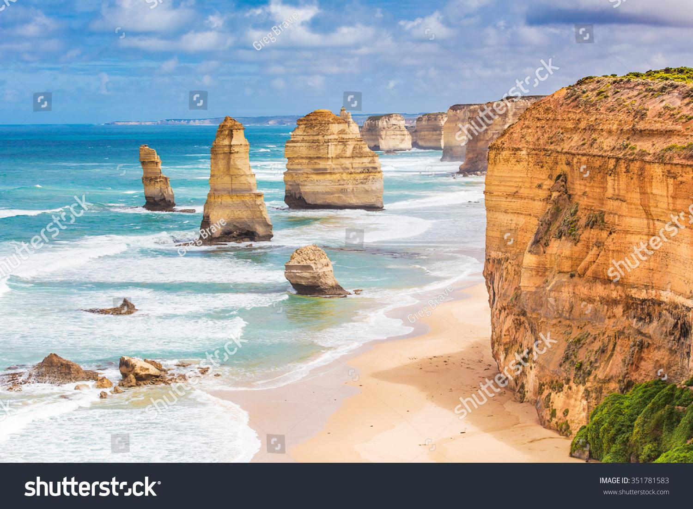 Twelve Apostles Rock Formations, Great Ocean Road, Victoria, Australia Stock Photo 351781583 : Shutterstock