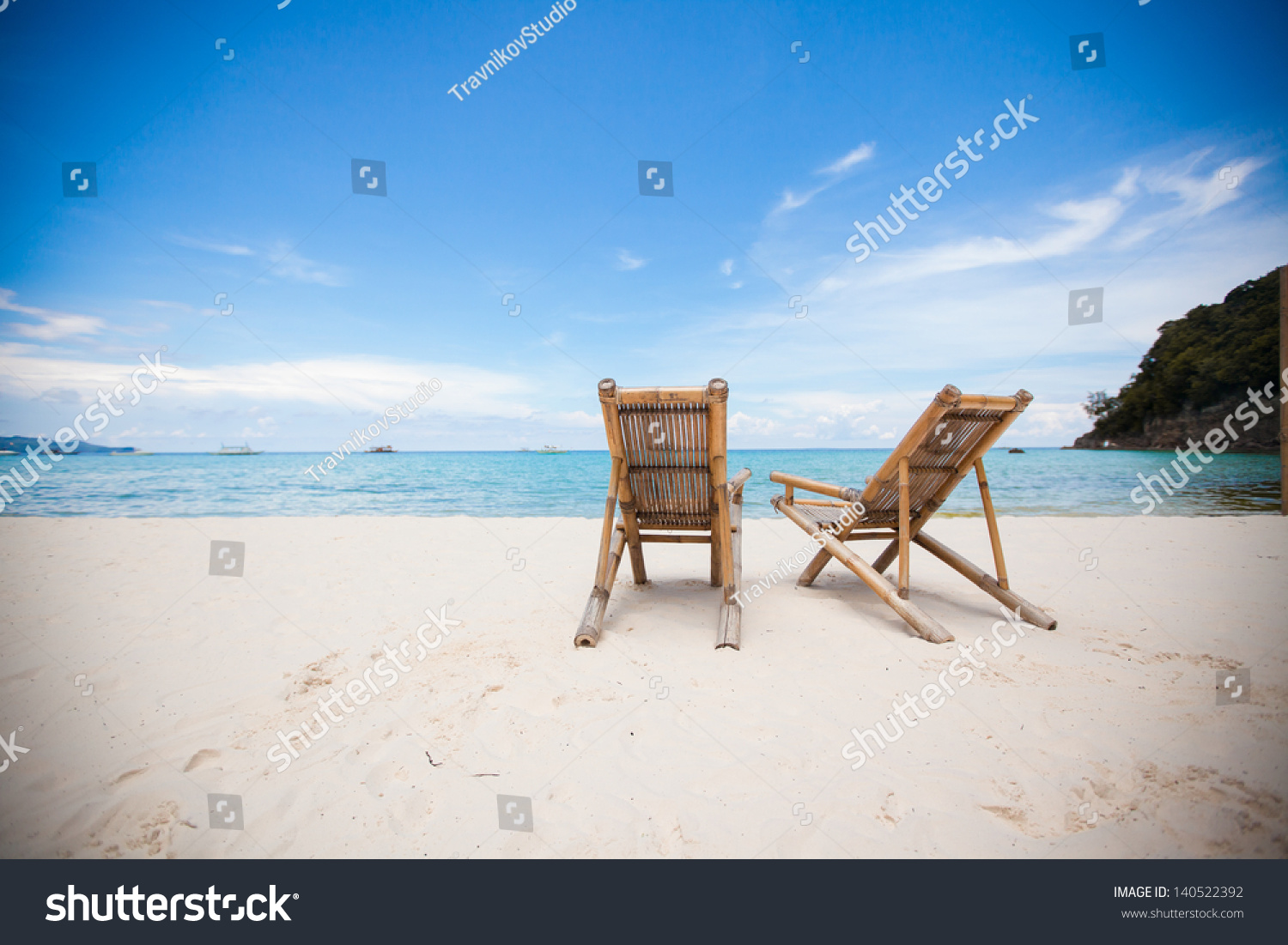 perfect beach chairs baby learn to sit chair two on tropical stock photo 140522392