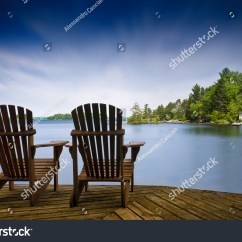 Outside Rocking Chair Canada Baby Eating Two Muskoka Chairs Sitting On Wood Stock Photo 431143933 - Shutterstock