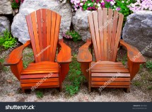 Two Solid Wood Patio Chairs Natural Stock 5010262