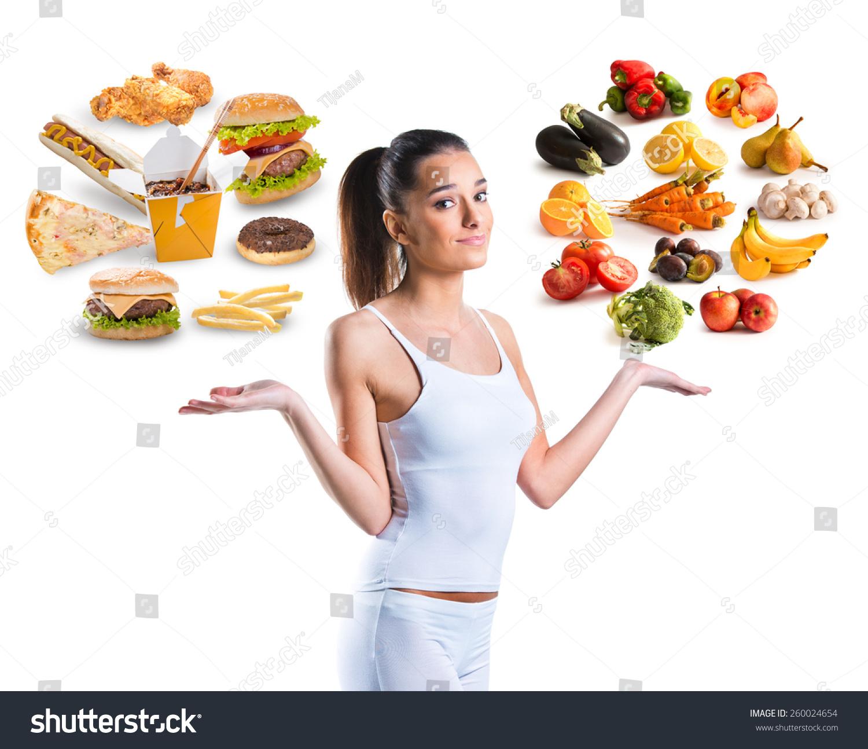 Unhealthy Vs Healthy Food Stock Photo Shutterstock