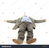 Unrecognized Young Man Lying On Floor Stock Photo 69264469 ...