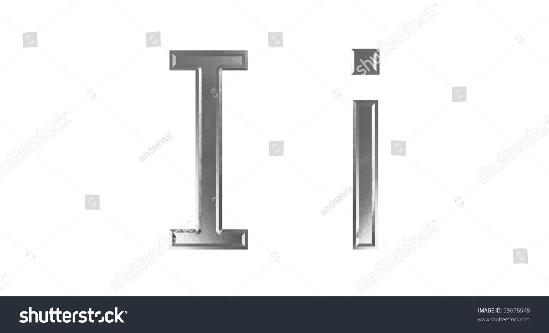 Upper Lower Case Letter Steel Stock Illustration