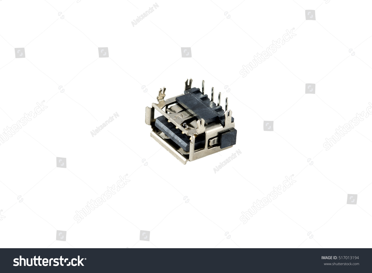 hight resolution of usb connector chip computer port is isolated on a white background