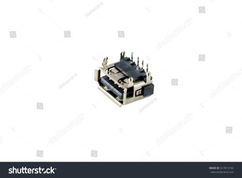 small resolution of usb connector chip computer port is isolated on a white background