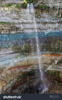 Valaste Waterfall Narva Estonia Stock