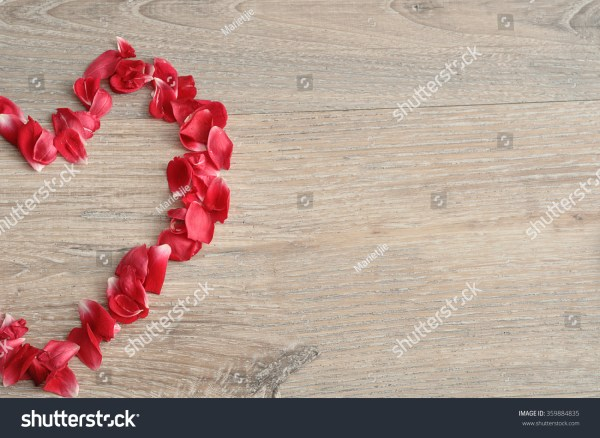 Valentine' Day. Heart Shape Of Red Rose