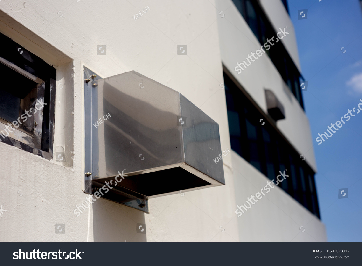 kitchen chimney without exhaust pipe sprayer hose architecture home design vent hood stock photo 542820319 shutterstock