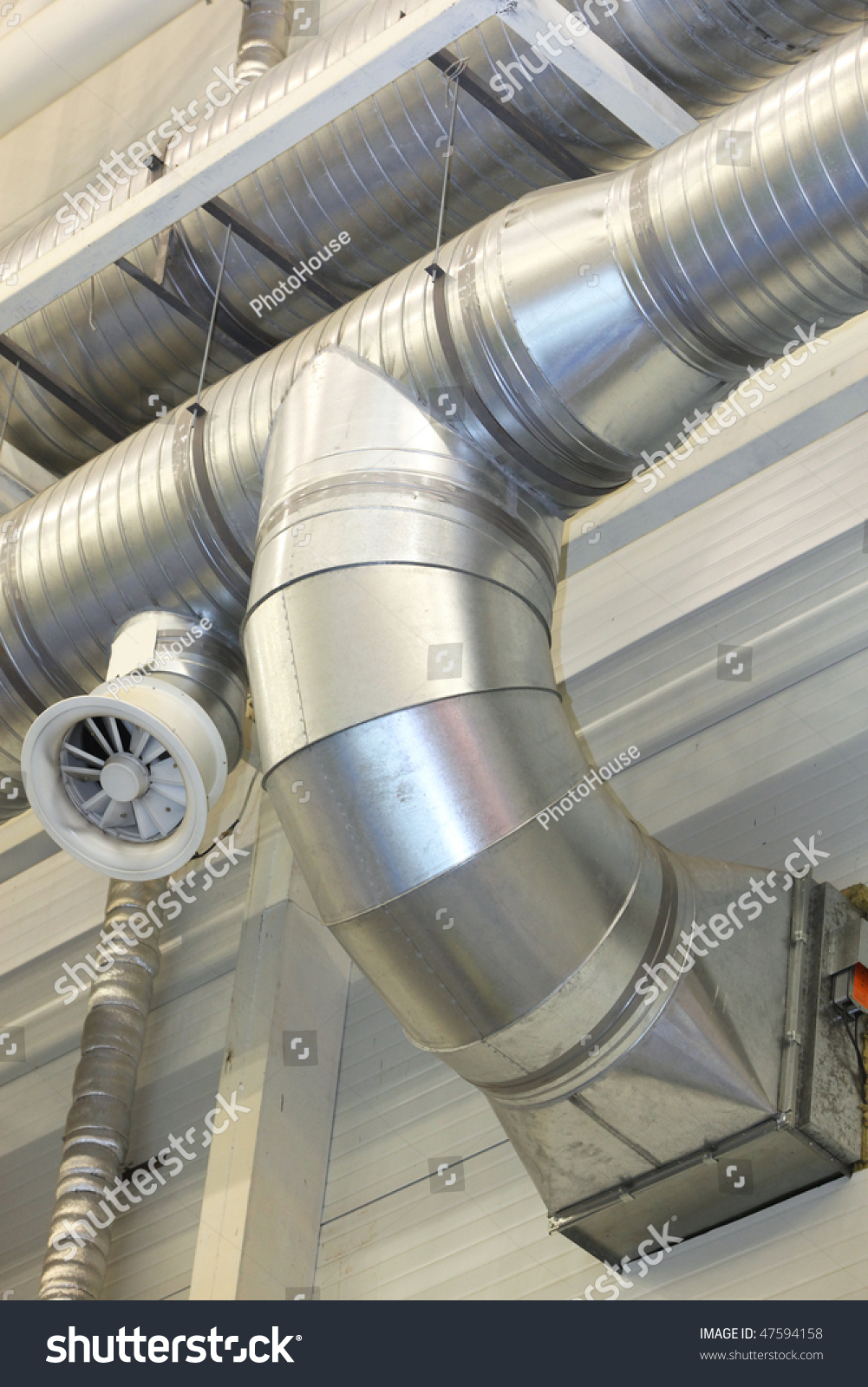 Ventilation Pipes Of An Air Condition Stock Photo 47594158 : Shutterstock