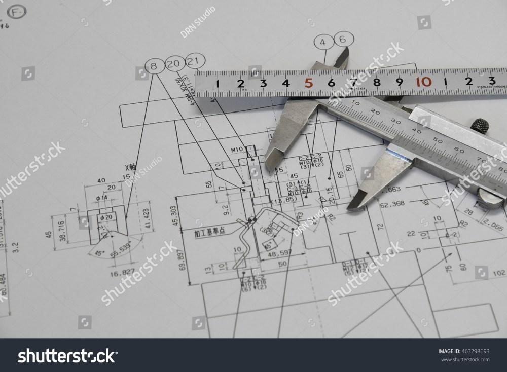 medium resolution of vernier caliper ruler and technical drawing