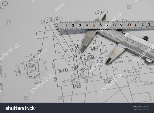 small resolution of vernier caliper ruler and technical drawing