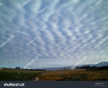 Vertical Stratus Cloud Formation Zealand Stock