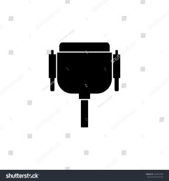 wiring diagram pc icon wiring diagram yer vga wire port cable icon pc stock illustration 769974394 [ 1500 x 1600 Pixel ]