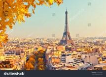 View Eiffel Tower Sunset Paris Stock 317347868