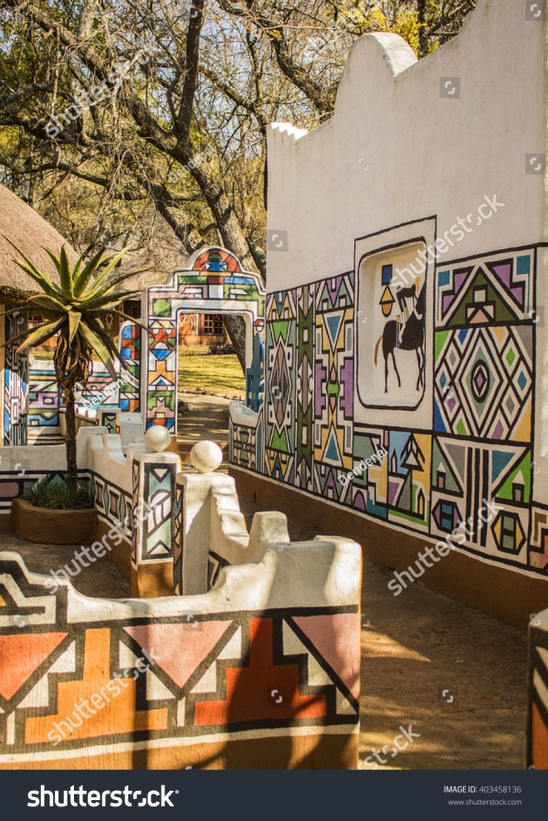 Village Ethnic Ndebele Painting Style South Stock 403458136 - Shutterstock