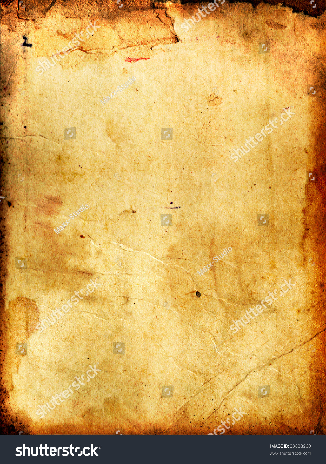 Vintage Aged Background Old Paper Stock Photo 33838960