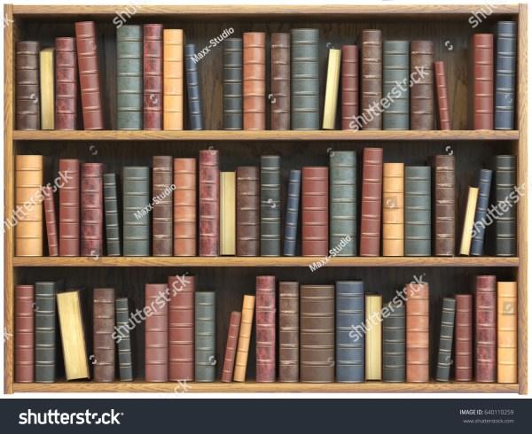 Illustration Books On a Bookshelf