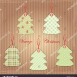Vintage Christmas Trees Shabby Chic Style Stock Illustration 162132245