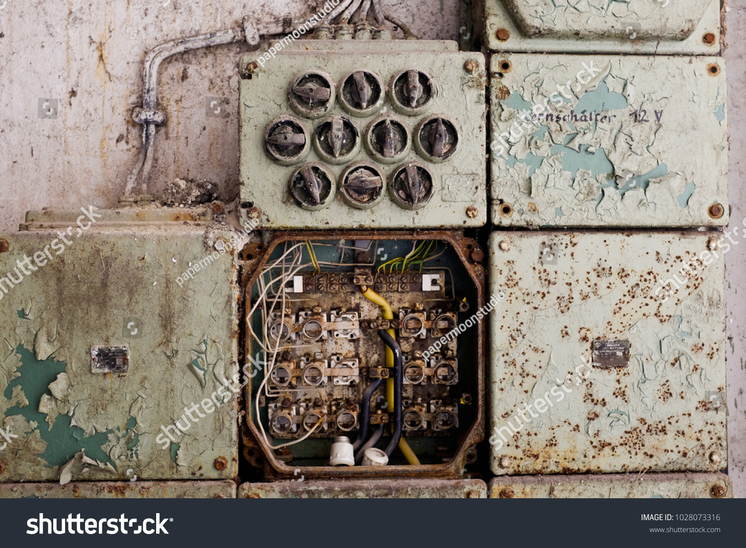 hight resolution of vintage electric panel or fuse box