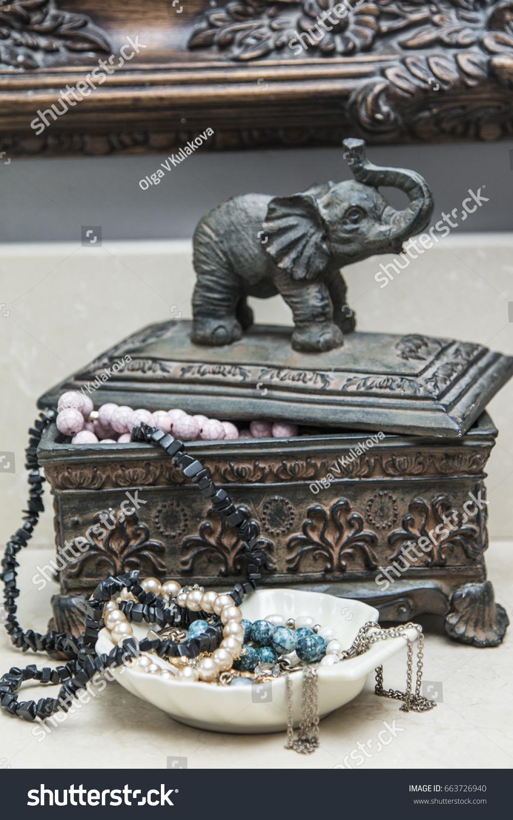 Elephant Jewelry Box : elephant, jewelry, Vintage, Jewelry, Elephant, Indian, Style, Stock, Photo, (Edit, 663726940