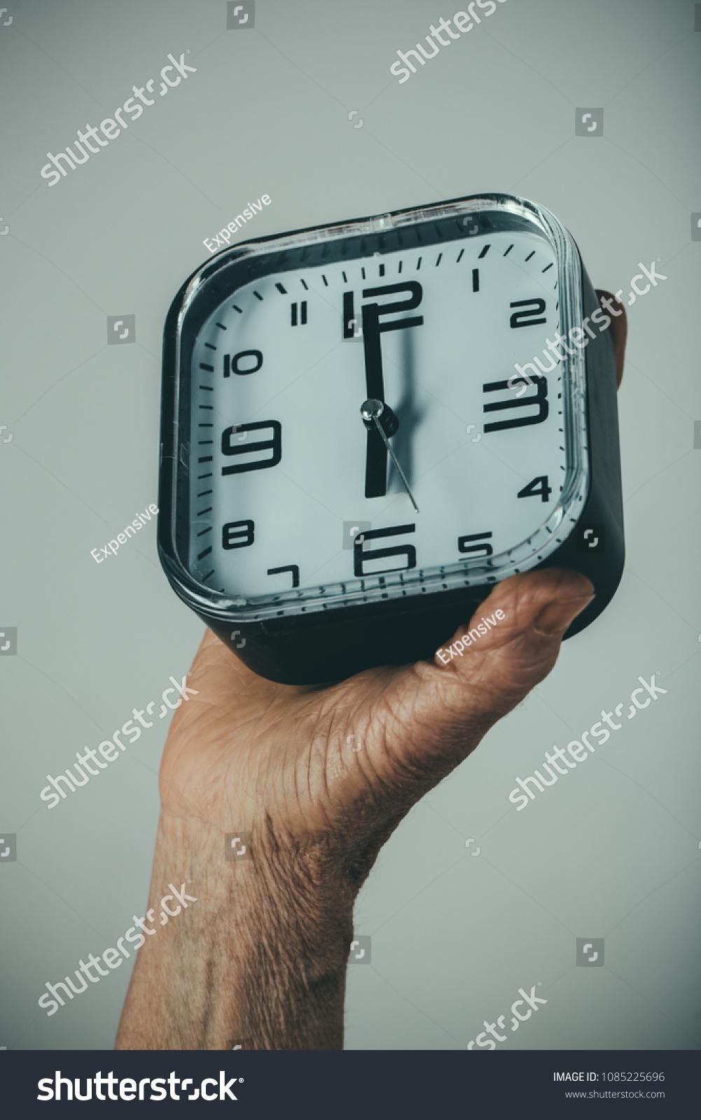 vintage watches elderly hands