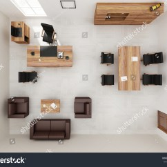 Chair Design Top View Office Armless Vip Furniture 3d Stock Illustration