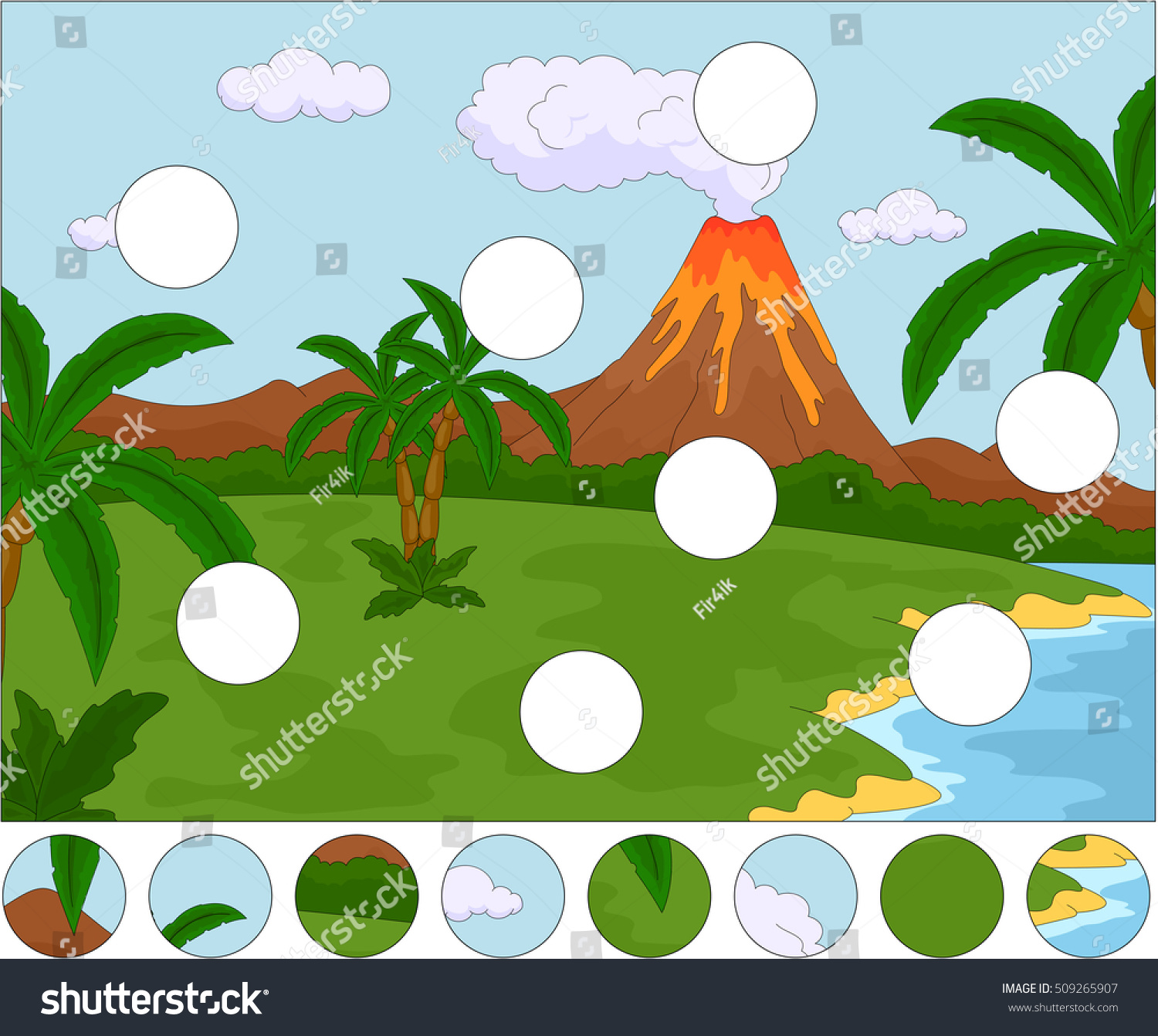 Volcanic Eruption Complete Puzzle Find Missing Stock